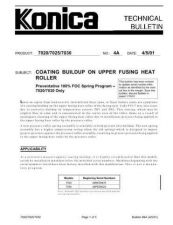 Buy Konica 04A COATING BUILDUP ON UPPE Service Schematics by download #135864