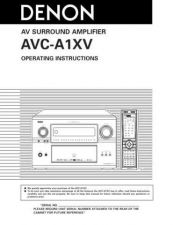 Buy Denon Bed AVC-A1XV User Instructions by download Mauritron #204276