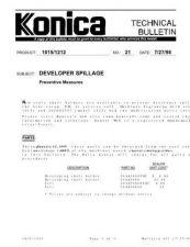 Buy Konica 21 DEVELOPER SPILLAGE Service Schematics by download #136035