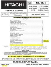 Buy HITACHI 42HDT50 USA Service Manual by download #163362