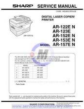 Buy Sharp AR122E-152E-153E-157E SM GB Manual by download #179340
