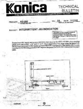 Buy Konica 02A INTERMITTENT J93 INDICA Service Schematics by download #135827