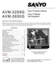 Buy Sanyo AVM3659G(SM780053-01) Manual by download #172697