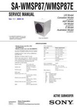 Buy SONY SA-WMSP87WMSP87E Service Manual by download #167165