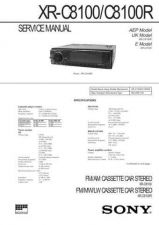 Buy SONY XR-C 8100 CDC-1409 by download #159667
