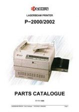 Buy KYOCERA P-2000 PARTS MANUAL by download #148450