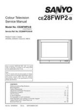 Buy Sanyo CE28FWP2-B-00 SM Manual by download #173164