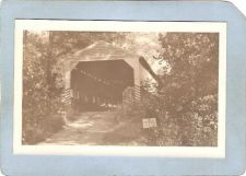 Buy GEN Unknown Covered Bridge Postcard Covered Briegd Real Photo Post Card RP~1043