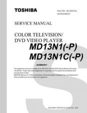 Buy TOSHIBA MD13N1P MD13N1CP SUMMARY Service Schematics by download #160150