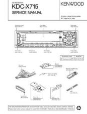 Buy KENWOOD KDC-X617-6090R RY KDC7018 Service Manual by download #148184
