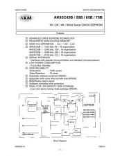 Buy SEMICONDUCTOR DATA AK93C65BHJ Manual by download Mauritron #187015