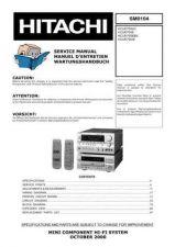 Buy HITACHI SM 0104E Service Data by download #147460