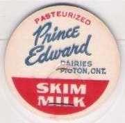 Buy CAN Picton Milk Bottle Cap Name/Subject: Prince Edward Dairies Skim Milk~231