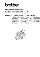Buy BROTHER FAX 8060P, MFC-9060 PARTS MANUAL Service Manual by download #146256