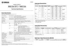 Buy Yamaha MG16XU MG16 EN TS A0 Operating Guide by download Mauritron #204839