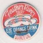 Buy CA Quincy Milk Bottle Cap Name/Subject: Feather River Dairy Eze Orange Dri~82