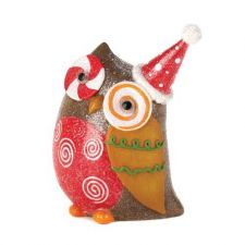 Buy Candy Cane Eye Owl Decor