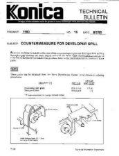 Buy Konica 15 COUNTERMEASURE FOR DEVEL Service Schematics by download #135998