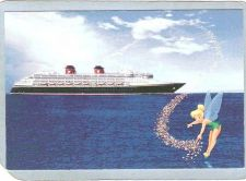 Buy GEN Unknown Amusement Park Postcard Disney Cruise Line w/Tinkerbell top_bo~221