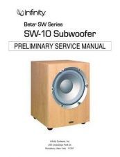 Buy INFINITY SW-10 SM(1) Service Manual by download #151574