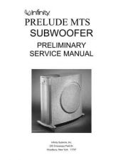 Buy INFINITY PRELUDE MTS SUB PRELIMINARY SM Service Manual by download #147608
