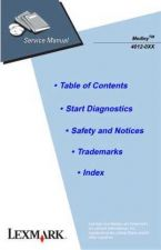 Buy LEXMARK MEDLEY 4012-0XX SERVICE MANUAL by download #152214