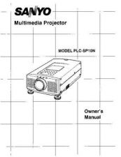 Buy Sanyo PLC-XU38 Manual by download #175016