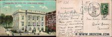 Buy CT New London Postcard Municipal Building Street Scene Intersection James ~2161