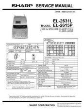 Buy Sharp 572 EL2631L 2SM Manual by download #178694