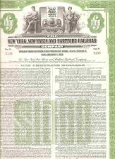 Buy CT New Haven Stock Certificate Company: New York, New Haven and Hartford R~125