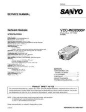 Buy Sanyo Service Manual For VCC-WB2000P Manual by download #176129