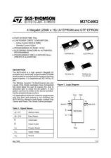 Buy SEMICONDUCTOR DATA 27C4002J Manual by download Mauritron #186875