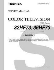 Buy TOSHIBA 32HF73 36HF73SUMREV1 Service Schematics by download #159888
