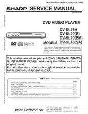 Buy Sharp 612 DVSL10(B)1 Manual by download #178736