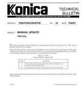 Buy Konica 16 SERVICE MANUAL UPDATE 7 Service Schematics by download #136009