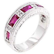 Buy Nightlife Garnet Eternity Band Ring (size: 06)