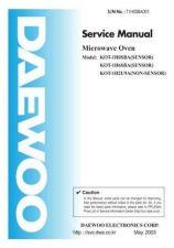 Buy DAEWOO KOT153UBW MWO, OVER THE RANGEHOOD TYPE Manual by download Mauritron #184