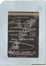 Buy CT Meriden Matchcover Production Equipment Co 401 Liberty Street w/Equipme~1213