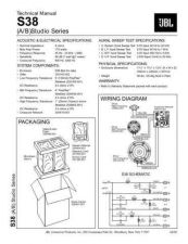 Buy INFINITY S38 STUDIO SERIES TS Service Manual by download #151466