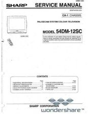 Buy Sharp 54DM12SC SM GB Manual.pdf_page_1 by download #178628