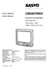 Buy Sanyo CB5957-MK2 SM-Only Manual by download #172748