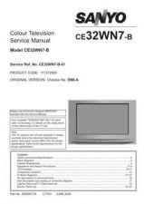 Buy Sanyo CE32WN7-B-01 SM Manual by download #173308