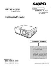 Buy Sanyo Service Manual For PLV-Z4 Manual by download #176021