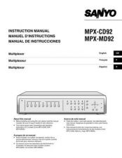 Buy Sanyo MPX-CD163,CD93(),M) Manual by download #174615