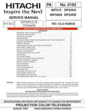 Buy Hitachi 46F500A Manual by download #170871