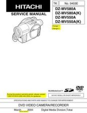 Buy Hitachi DZMV580A Service Manual by download Mauritron #193880