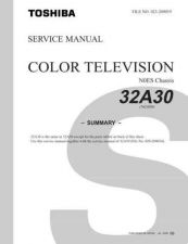 Buy TOSHIBA 32A30 Service Schematics by download #159853