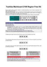 Buy TOSHIBA X109 REGION FREE KIT TECH INFO by download #132220