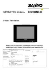 Buy Sanyo CE28DN9-B VER1 Operating Manual by download #173121