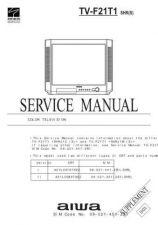 Buy AIWA TV-F21T1 C Service Schematics by download #130175
